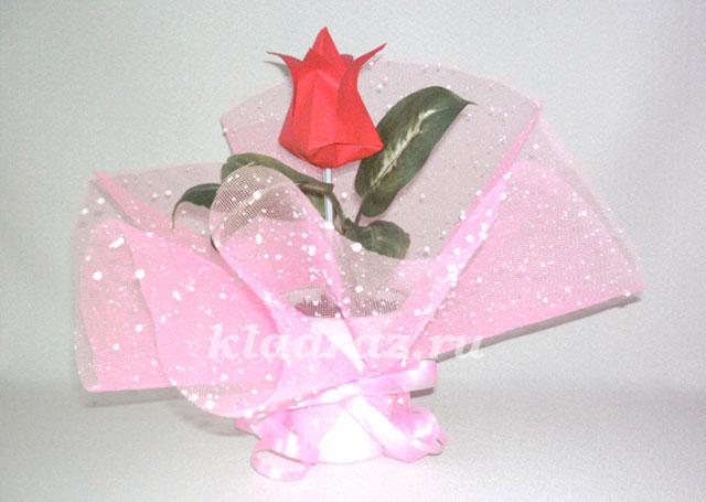 1(86) Как сделать тюльпан из бумаги в технике оригами