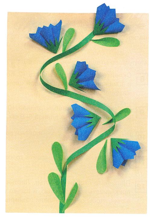 15(4) Аппликация. Цветы в вазе из цветной бумаги для старшей группы
