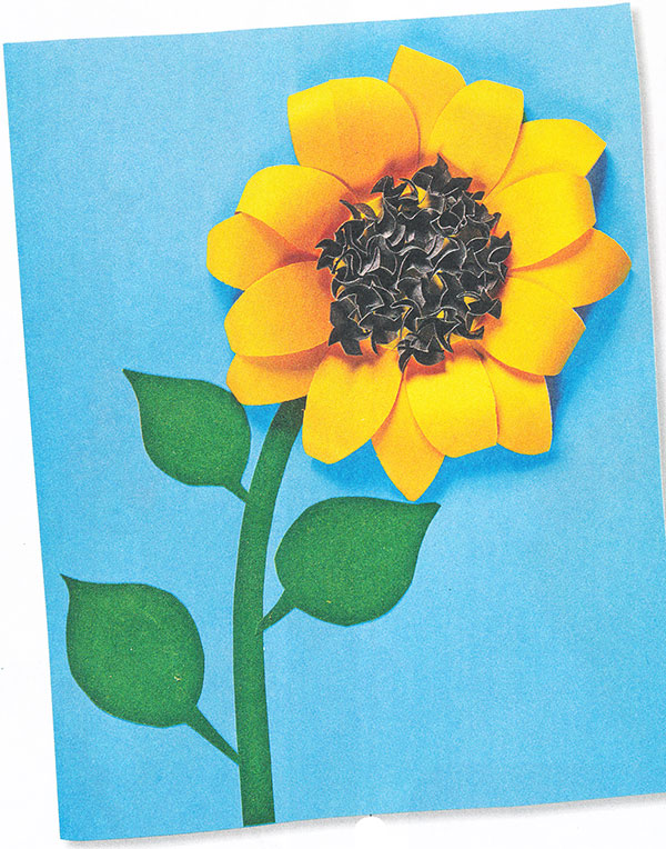 Подсолнухи открытки объемные