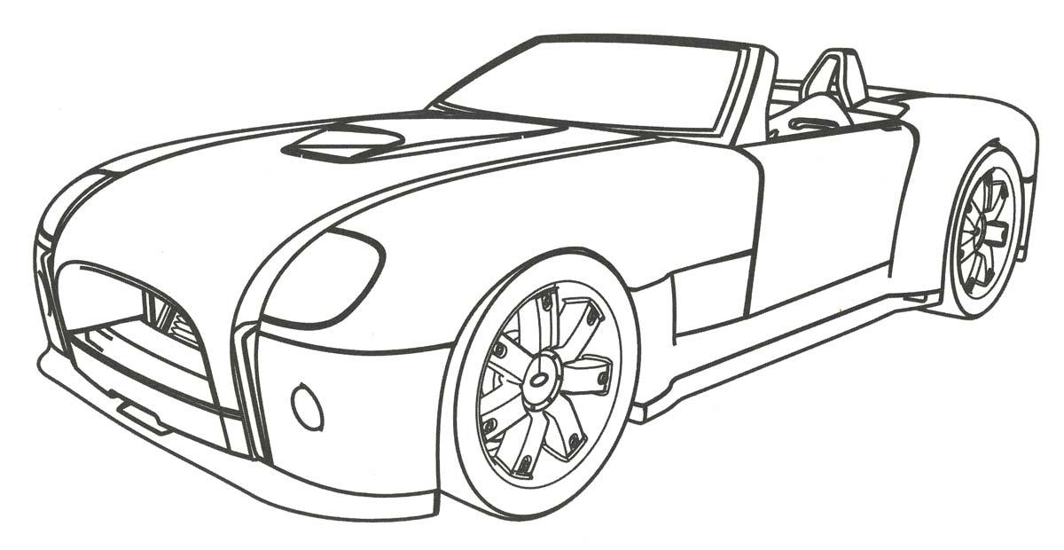 Раскраски автомобили