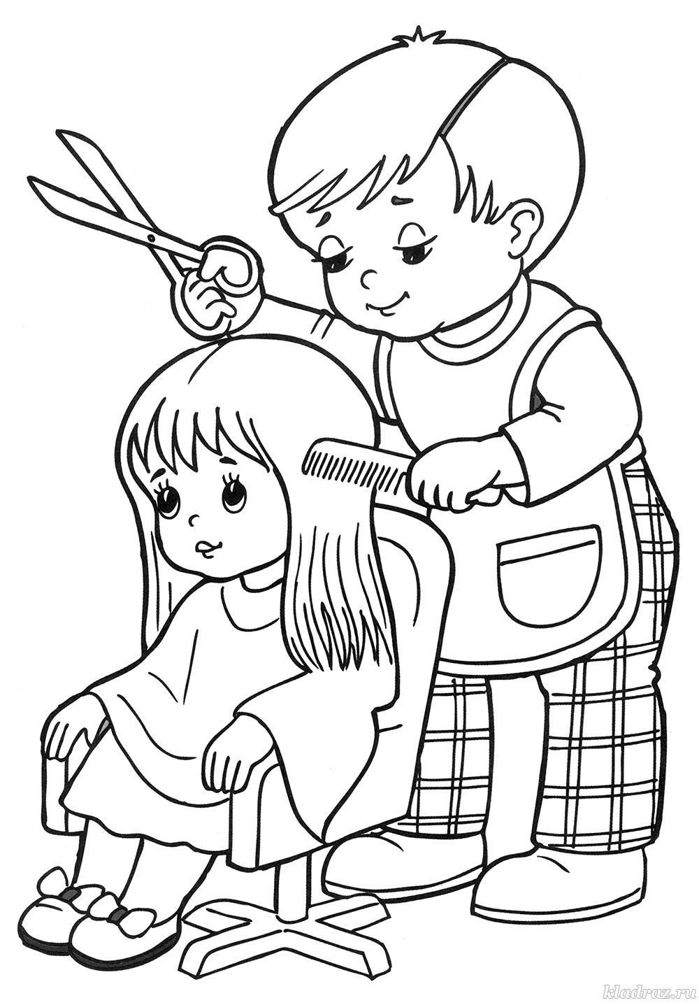 Раскраска для детей профессии
