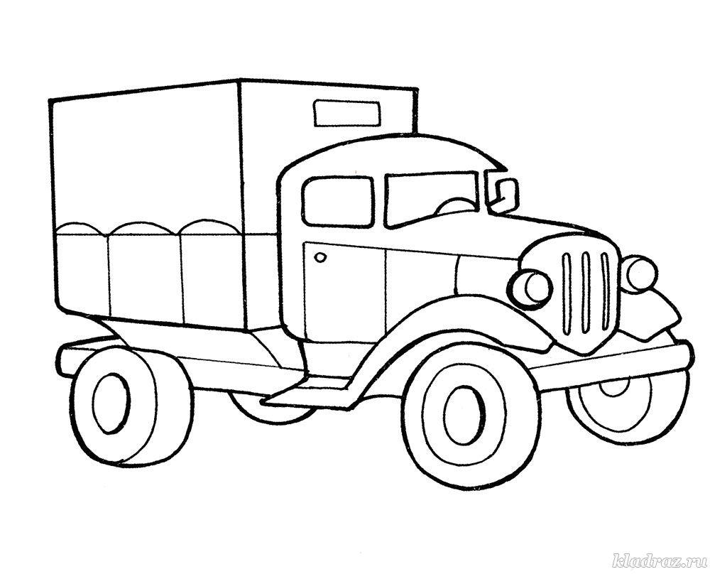 детская раскраска автомобиль