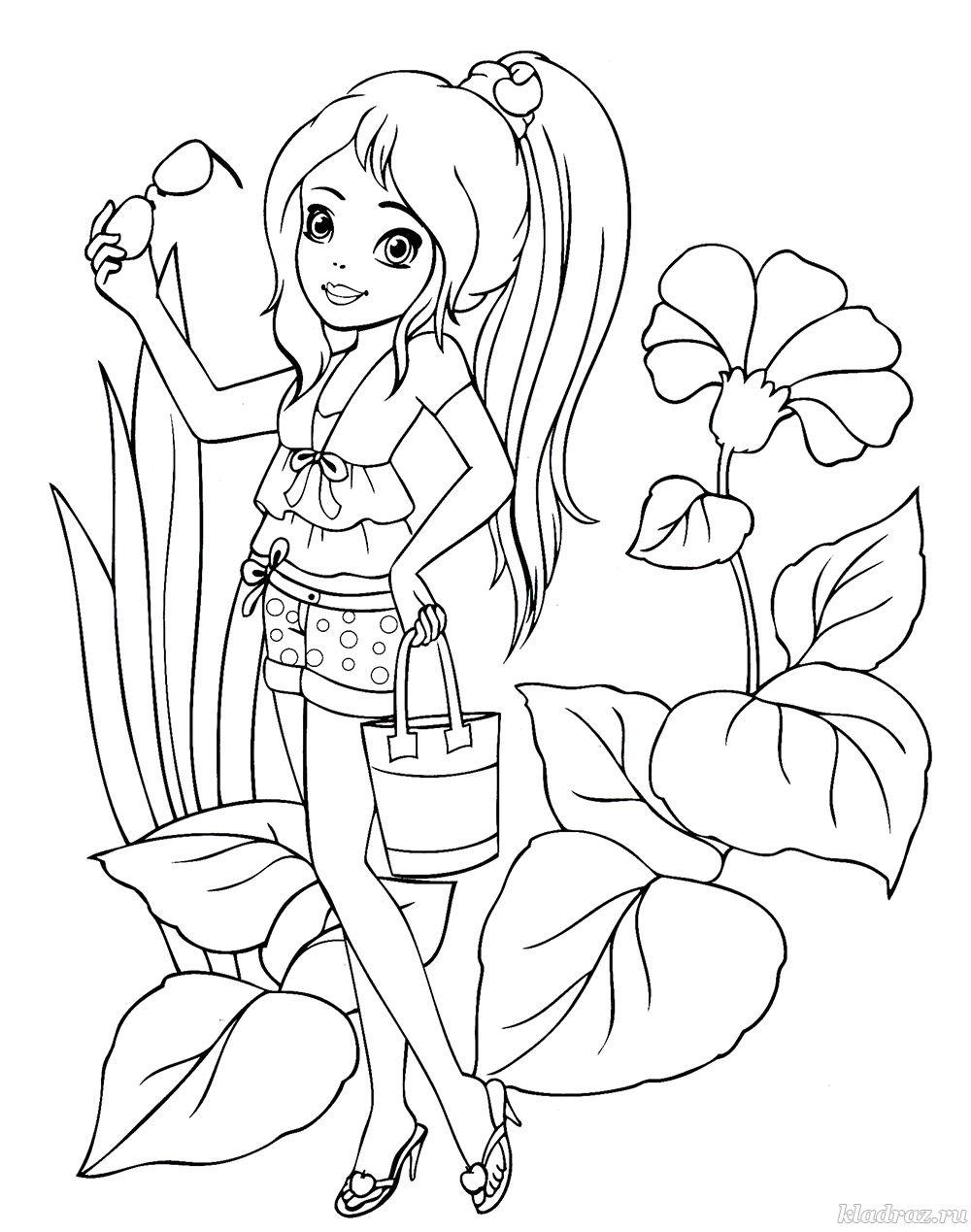 раскраска для девочек 6 9 лет фея цветов