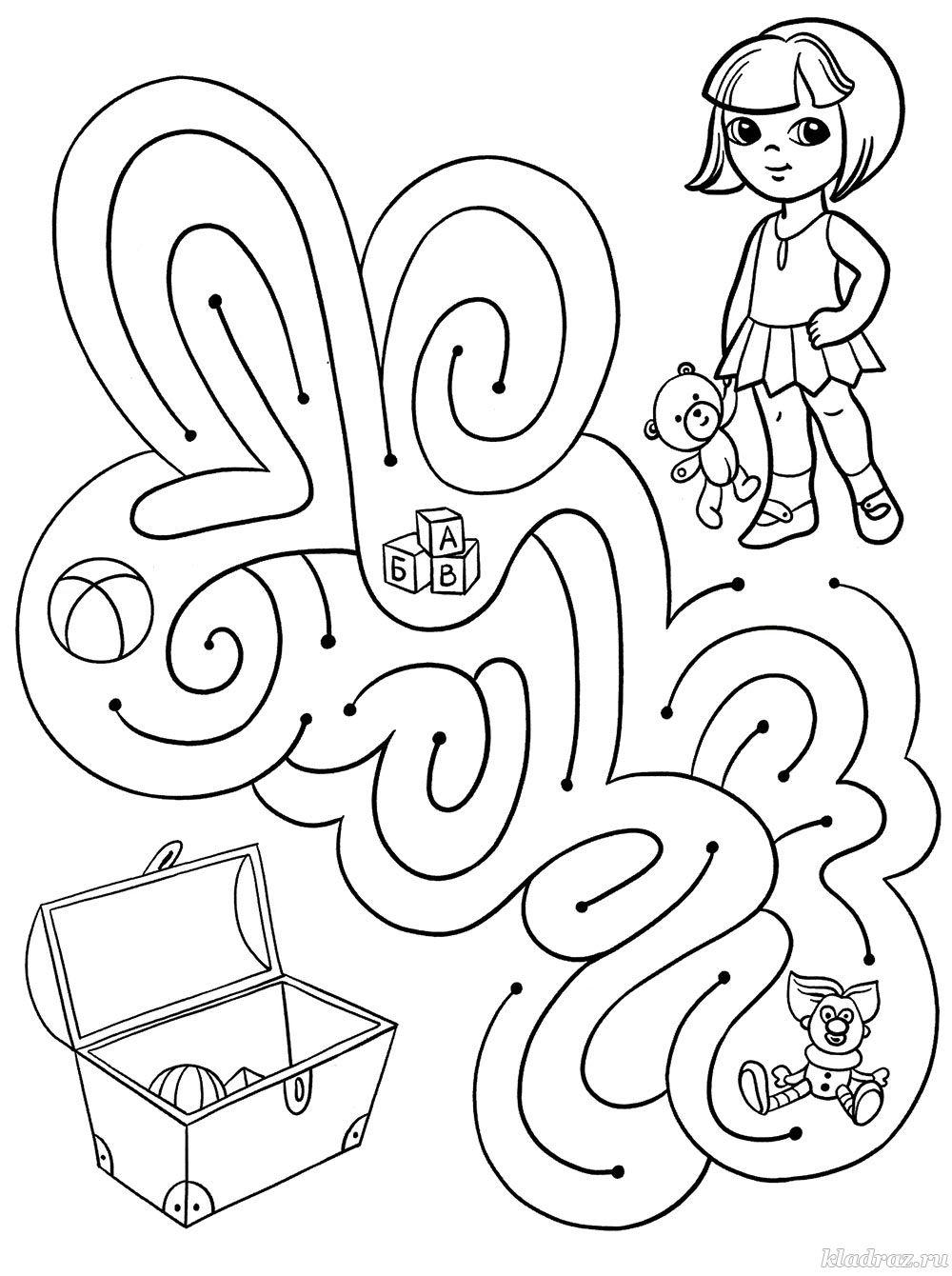 Лабиринт для детей 5-6 лет