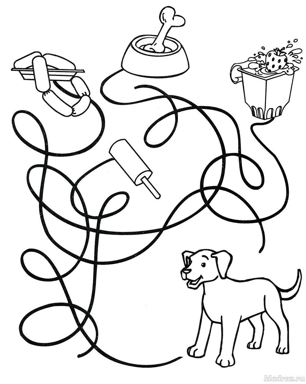 Лабиринт для детей 5-7 лет распечатать