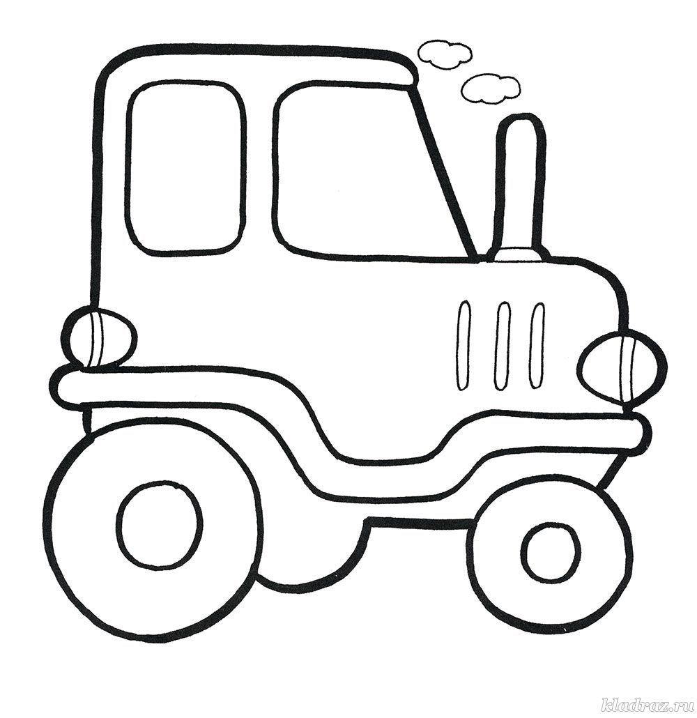Раскраска. Трактор для детей