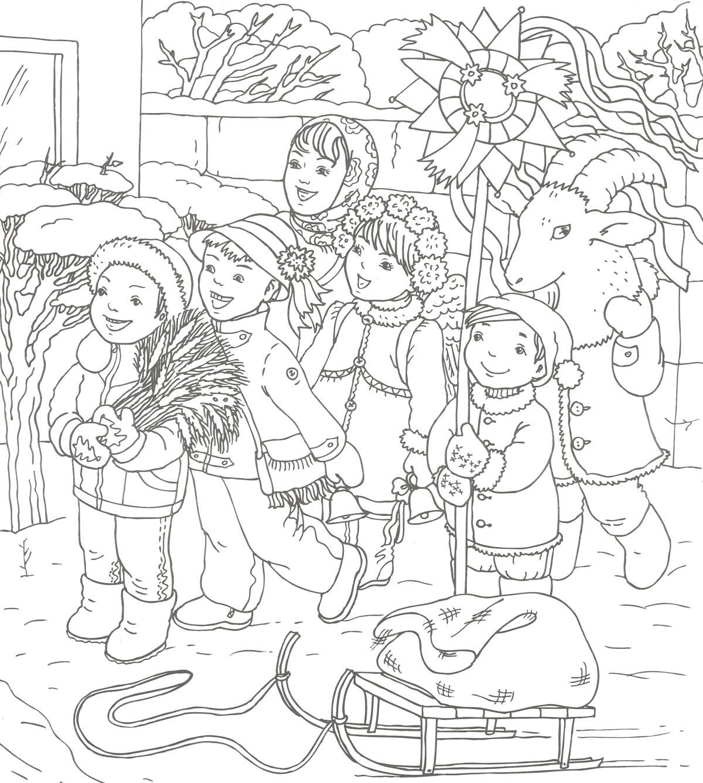 Рождественские картинки для детей рисунки раскраски, анимации доброе утро