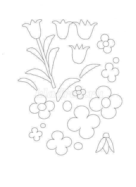 Шаблон цветка для открытки 9 мая, анимации лучи