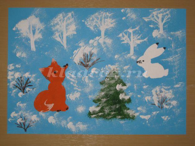 Урок рисования 1 класс зимние забавы