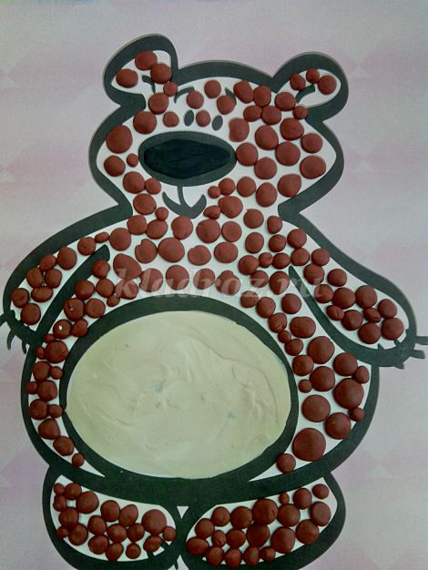 Пластилинография «Медвежонок» для детей 3-4 лет. Мастер ...