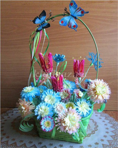 Открытка с бабочкой: квиллинг пошагово с фото   628x500