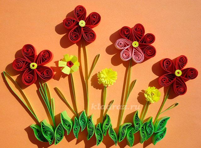Квиллинг для начинающих схемы цветочек