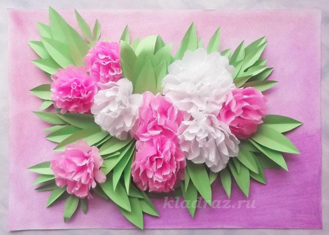 Поделки из гофрированной бумаги цветы картинки 64