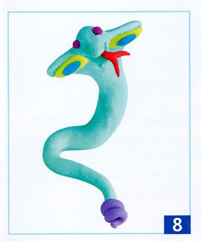 Как сделать змея из пластилина