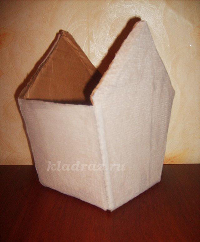 Скворечник своими руками из картонной коробки 42