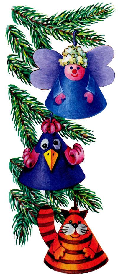 Шаблоны для новогодней гирлянды из бумаги своими