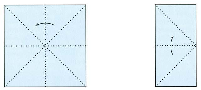 Схемы сложения бумаги для