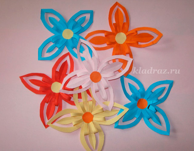 Дети своими руками цветы из бумаги 53