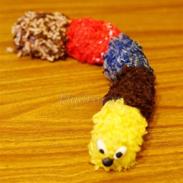 Шнурок гусеничка мастер класс идеи #1