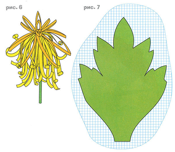 Как сделать листья для цветка 336