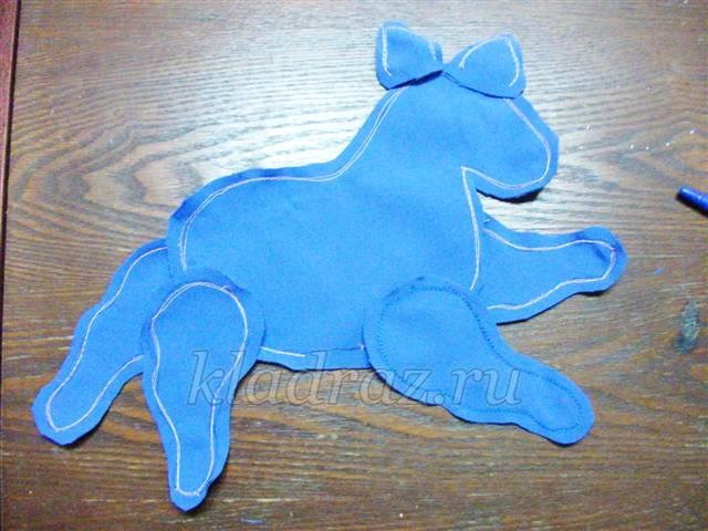 Мягкая игрушка лошадка своими руками