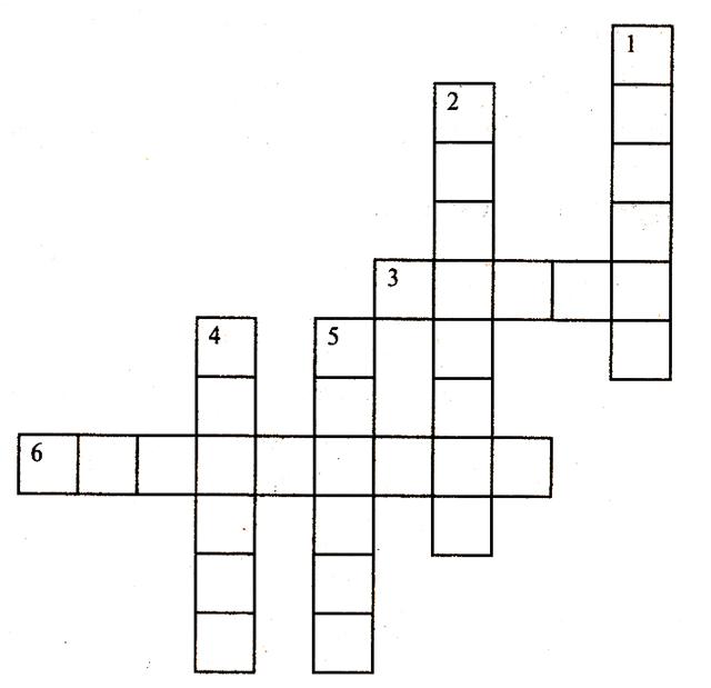 Математические кроссворды с ответами для 3класса