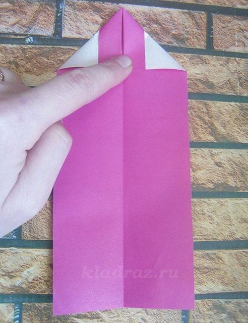 Закладки для книг из цветной бумаги
