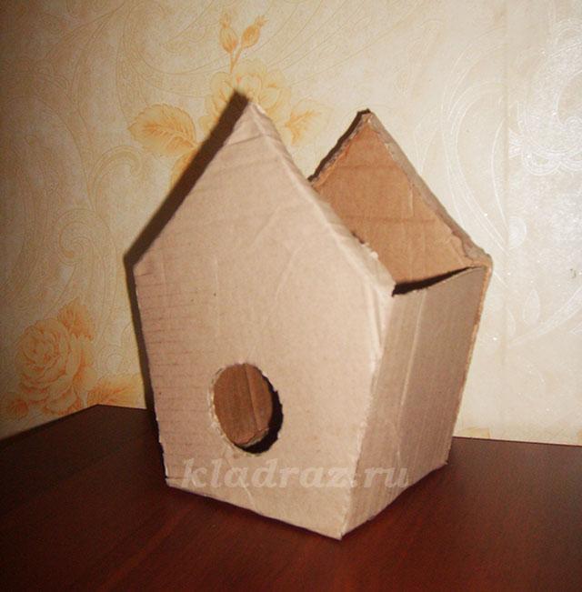 Скворечник своими руками из картонной коробки 80