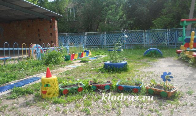 Украшения участков в детском саду
