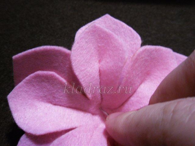 Изготовление цветка из фетра (войлока). Мастер-класс