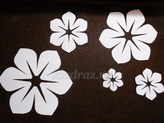 Шаблон цветов из фетра своими руками 570