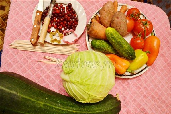 Изготовления  вазы и цветов из овощей и ягод. Мастер-класс