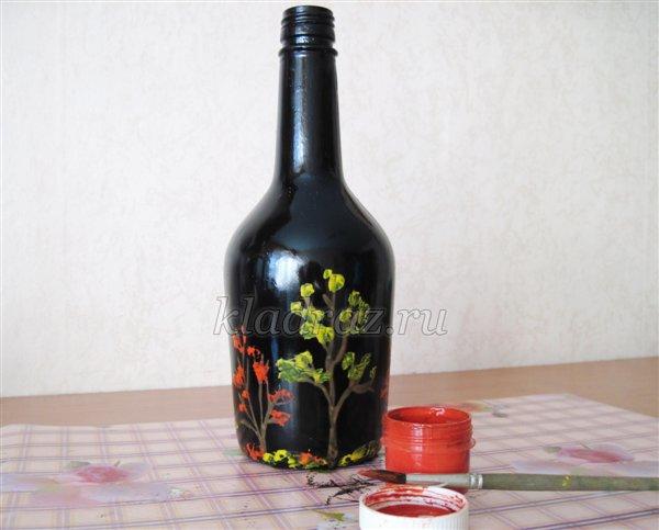 Мастер-класс по рисованию на бутылке