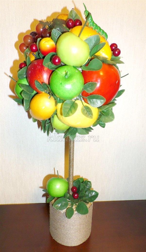 Топиарий с фруктами своими руками пошаговое фото