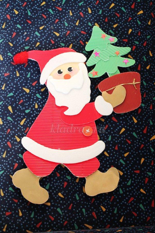 Дед мороз новогодняя игрушка из бумаги своими