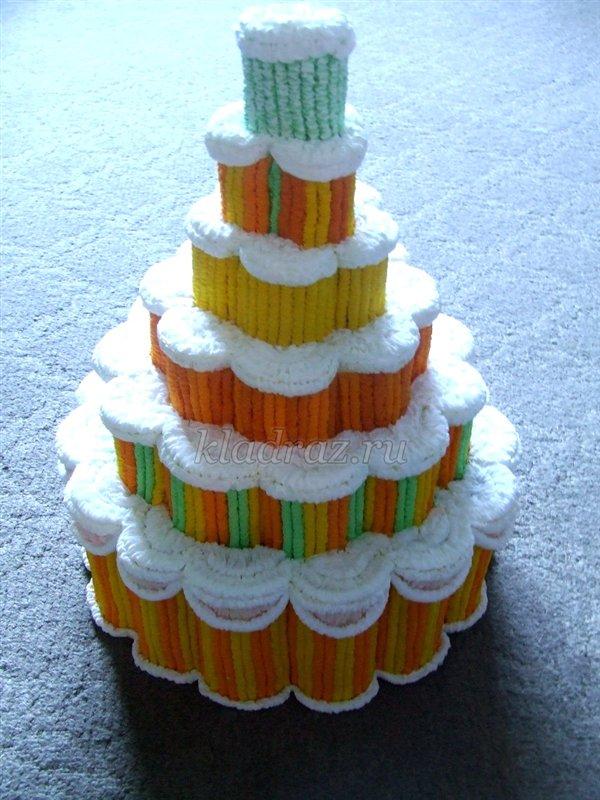 Торт из бумаги своими руками мастер класс