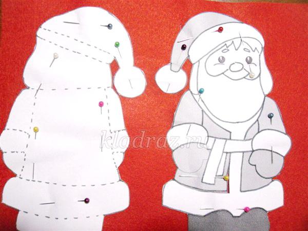Новогодние поделки дед мороз из бумаги своими