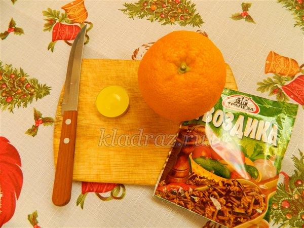 Новогодняя апельсиновая свеча. Мастер-класс