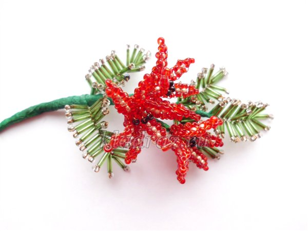 как сделать новогодние украшения своими руками из бисера