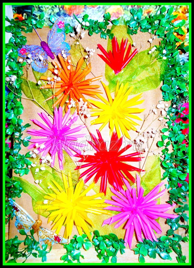 Поделки из трубочек в детском саду - Весёлые картинки