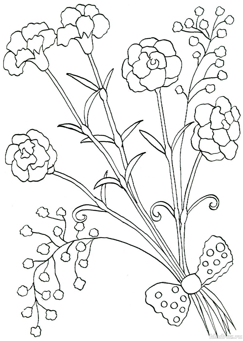 Раскраска для детей 6-7 лет. Летние цветы