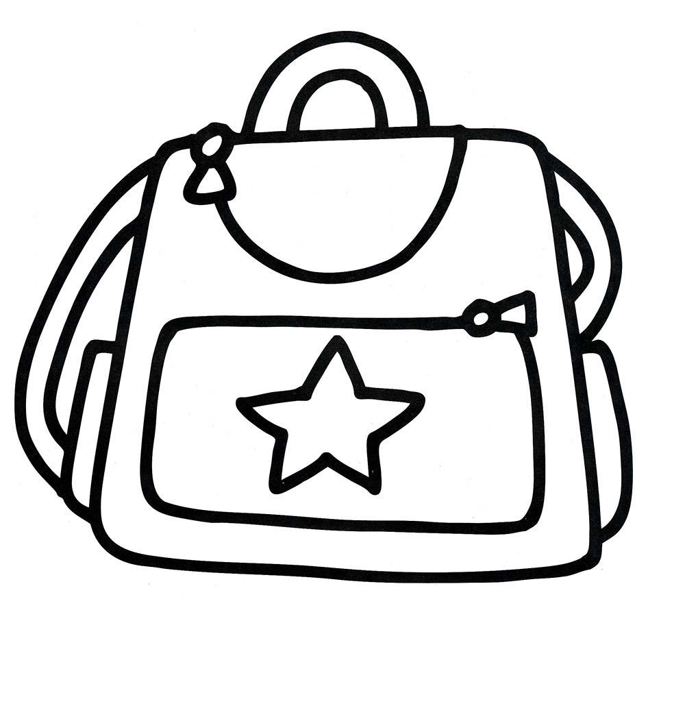 Раскраски сумка для детей