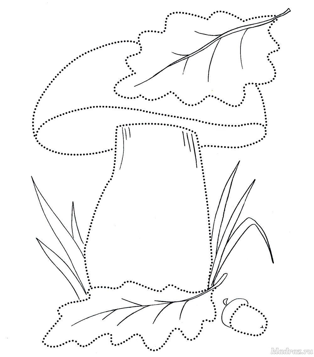 Раскраска про осень 5-6 лет