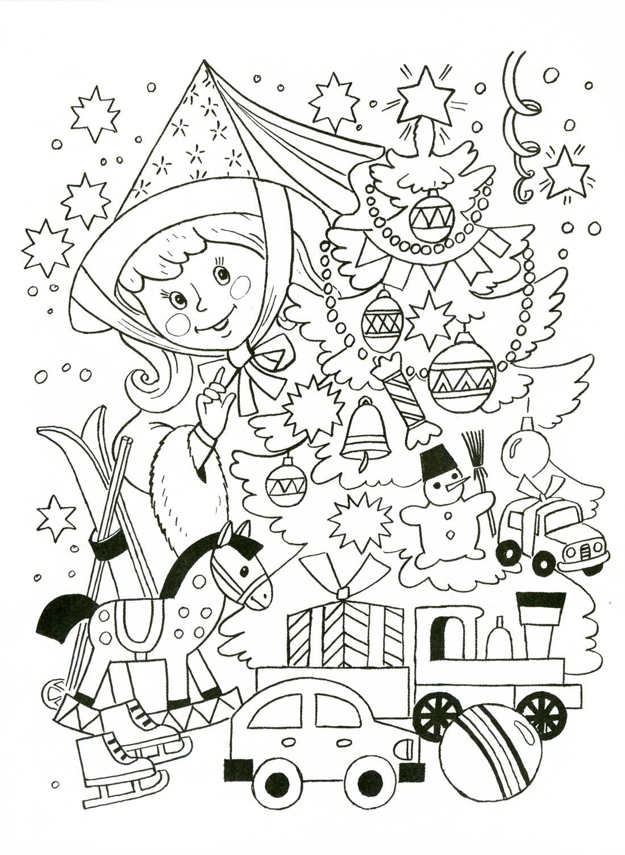 Новый год раскраски в картинках