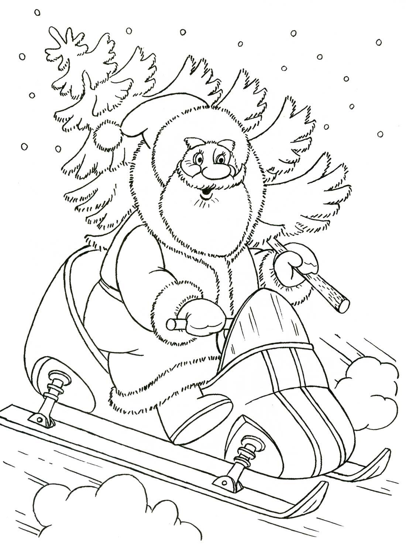 Картинки раскраски про зиму 6 7 лет