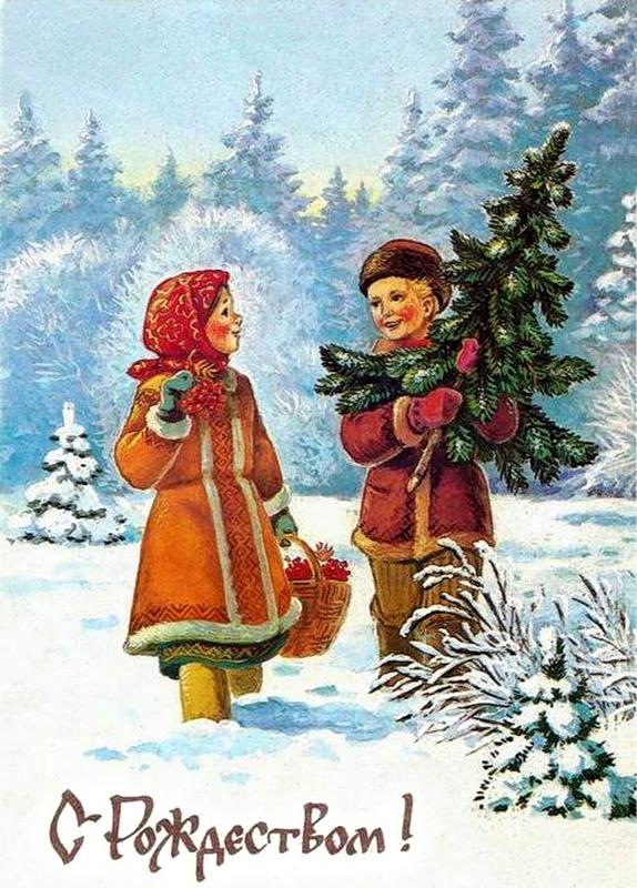 Картинки первым снег