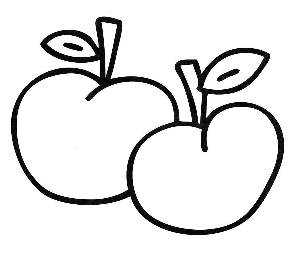 Яблоки. Раскраска