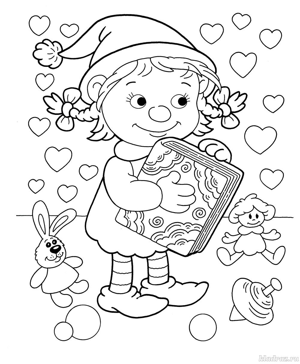 Новогодняя раскраска для детей 5-6 лет