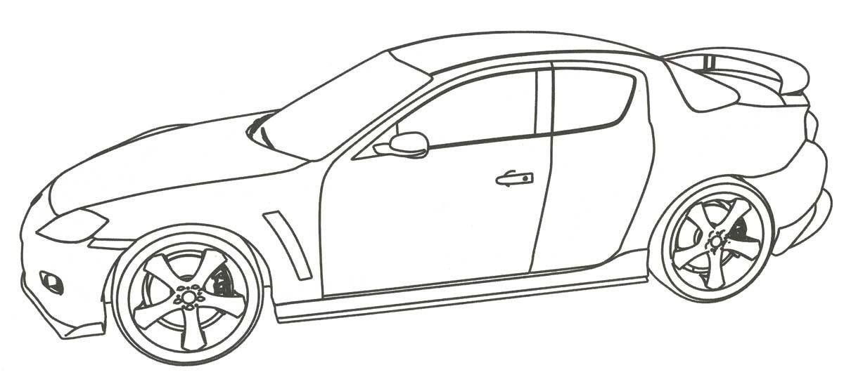 Картинки Онлайн раскраски гоночные машины 99