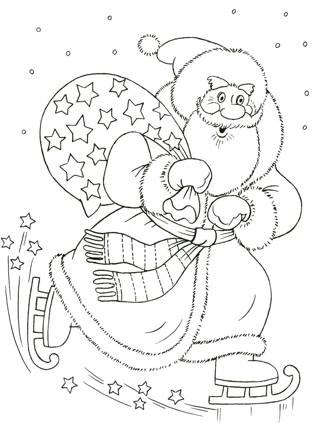 Раскраски для девочек на новый год дед мороз и снегурочка